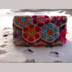 Pochette a uncinetto con african flowers Tutorial