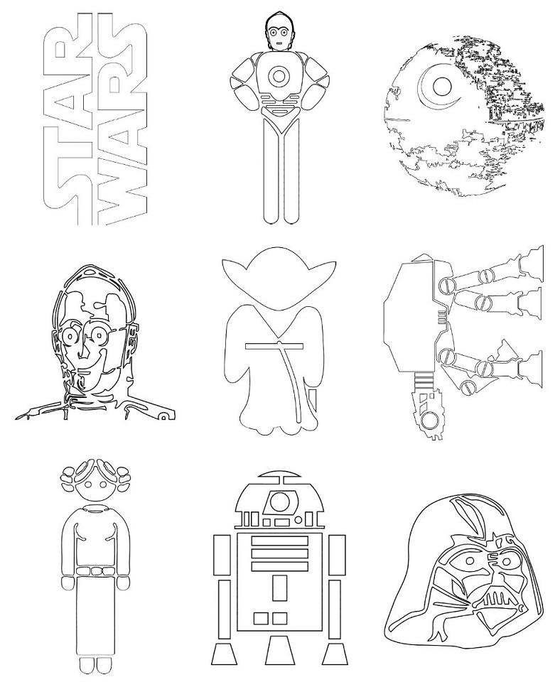 star wars disegni da colorare gratis