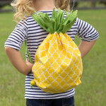 come fare zainetto a forma di ananas tutorial