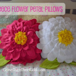 come fare cuscino a forma di fiore in feltro tutorial