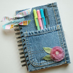 Tutorial Come rivestire block notes da riciclo jeans