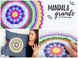 cuscino con mandala uncinetto tutorial