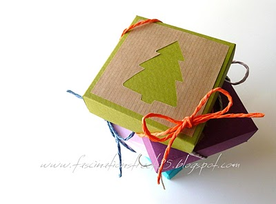Tutorial come fare scatolina per regalo natalizio