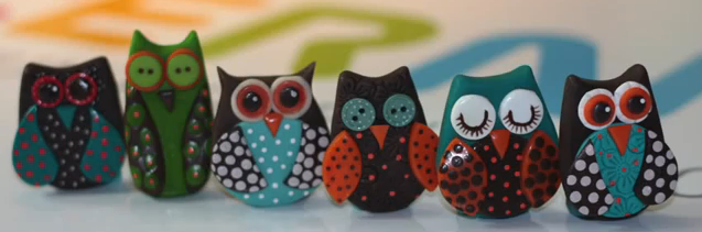 Come fare Gufetti in fimo Video Tutorial