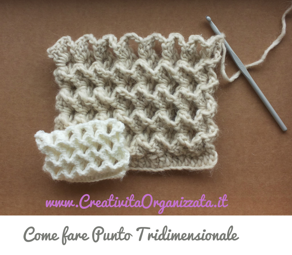 Come fare Punto tridimensionale a uncinetto Video Tutorial bf84bced229