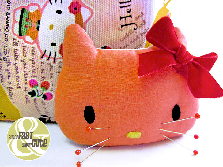 Tutorial Come fare puntaspilli Hello Kitty