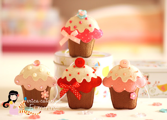 Cucito Creativo: fare cupcake in pannolenci - Tutorial e Cartamodello