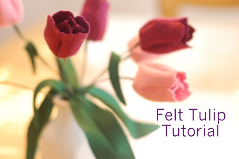 Tulipani in pannolenci Tutorial