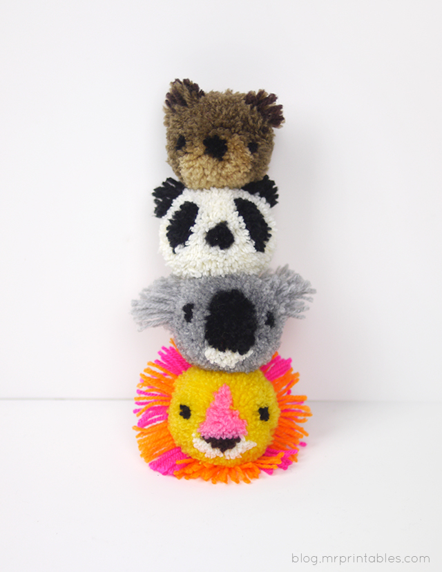 Animal pom pom Tutorial bis