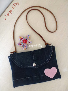 Pochette da Riciclo Jeans Tutorial in Italiano