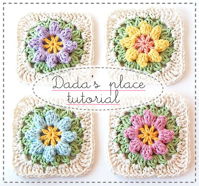 Come fare Primavera Flowers Granny Square Tutorial