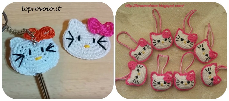 schemi Hello Kitty a uncinetto