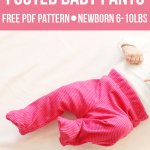 Come fare pantaloni per neonato – Tutorial e Cartamodello.
