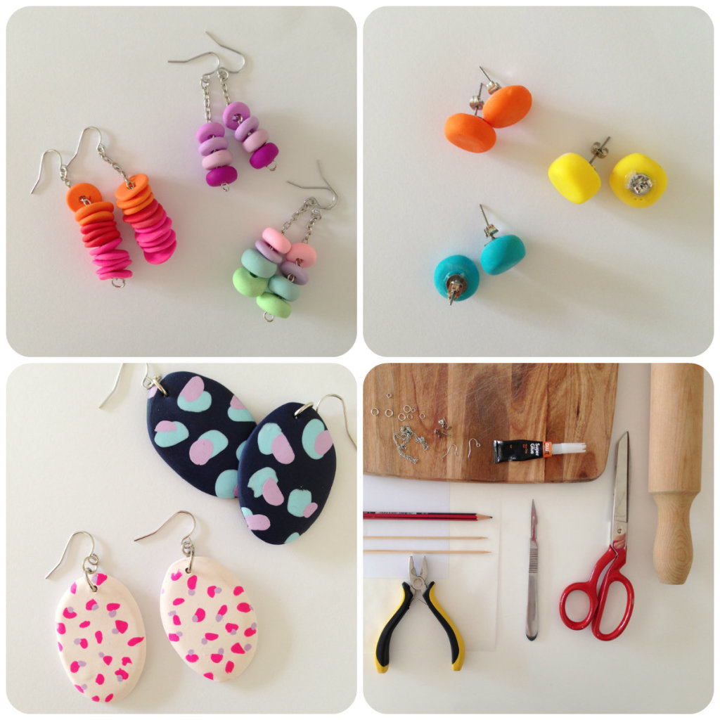 Come fare orecchini in fimo Tutorial