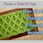 Punto a Nido d'Ape a Uncinetto – Video Tutorial.