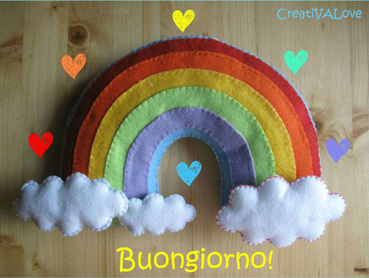 Come fare arcobaleno in pannolenci Cartamodello