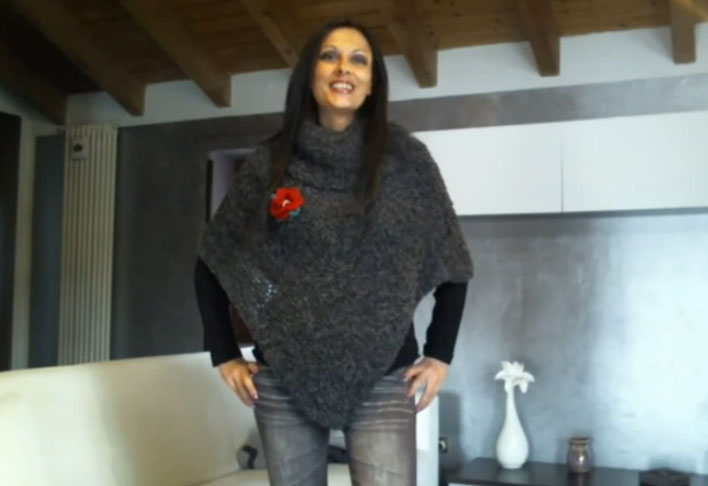 Poncho a maglia Video Tutorial