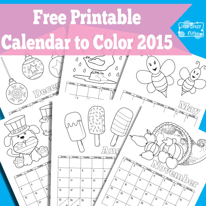 Calendario 2015 da colorare - Gratis. | Cucito Creativo - Tutorial ...