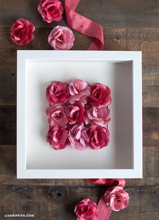 Quadro con rose di carta Tutorial