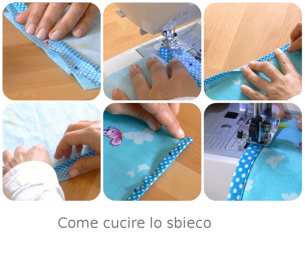 come cucire lo sbieco video tutorial