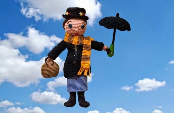 mary poppins amigurumi free pattern