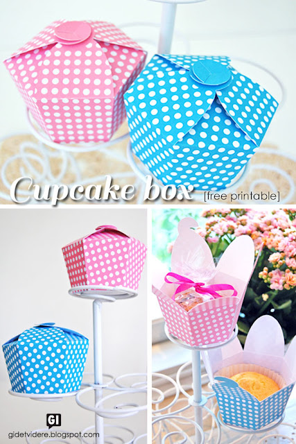 tutorial scatolina cup cake