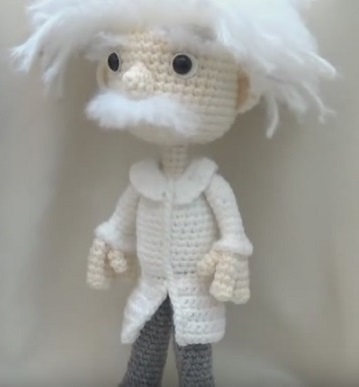 Einstein amigurumi schema e video tutorial