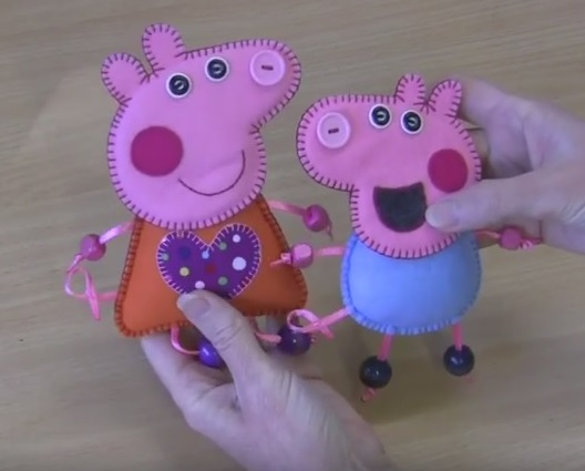 Cartamodelli per Peppa Pig e George e Video Tutorial.