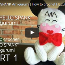 Schema pupazzo Hello Spank a uncinetto – Video Tutorial