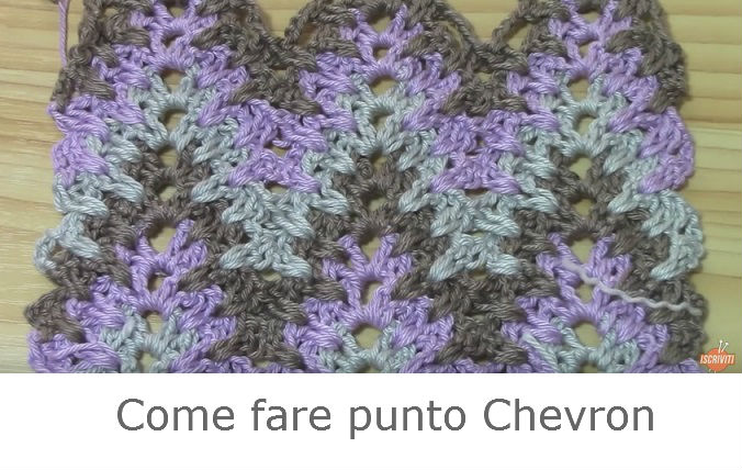 come fare punto chevron a uncinetto tutorial