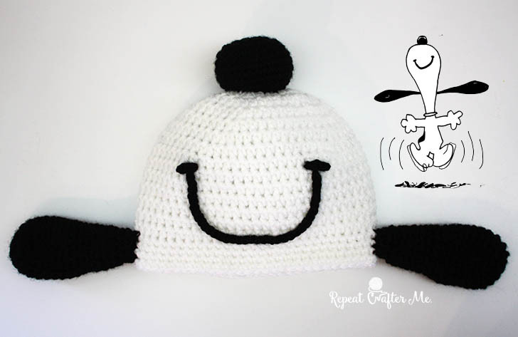 cappello snoopy a uncinetto