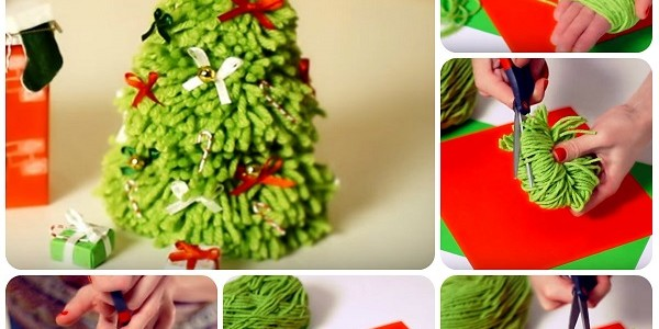 Albero di Natale facile con pom pom – Video Tutorial