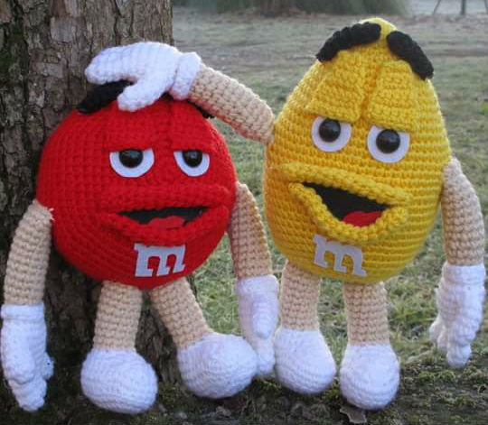 M&M amigurumi schema in italiano