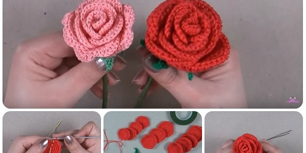 Tutorial rose a uncinetto