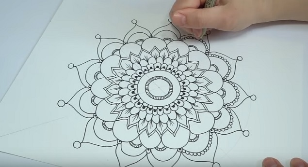Amato Come disegnare i mandala - Tutorial YB07