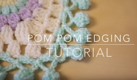 bordo con pom pom uncinetto tutorial