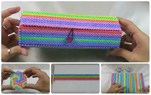 hama beads astuccio tutorial