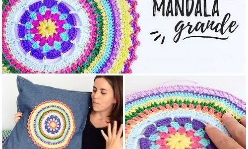 Mandala a uncinetto per cuscini – Video tutorial