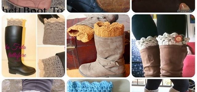 Decorazioni stivali Boot Cuffs uncinetto – Schemi e Tutorial