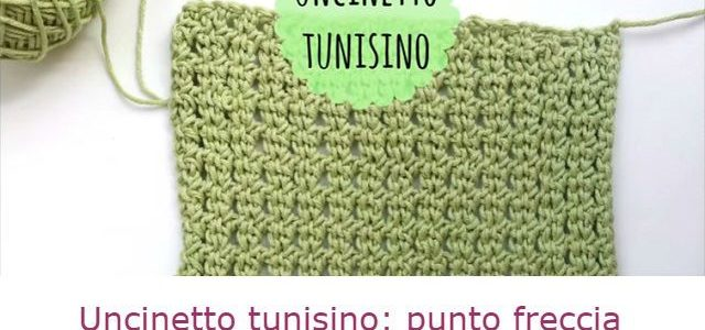 Uncinetto tunisino: come fare il punto freccia – Tutorial in italiano.
