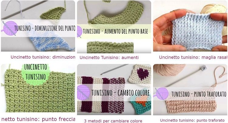 uncinetto tunisino tutorial lezioni
