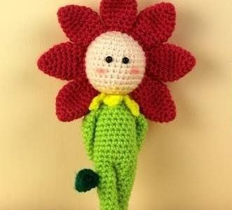 Amigurumi bambola fiore: video tutorial in italiano.