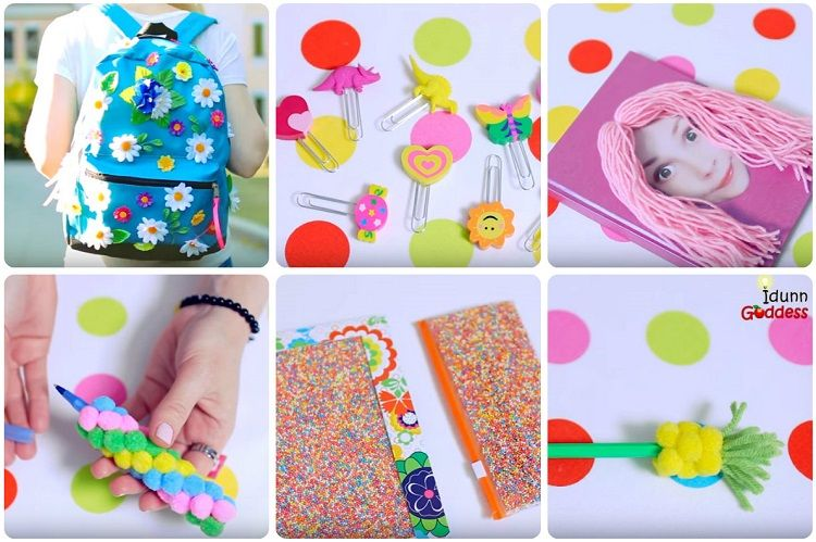 come decorare accessori scuola tutorial
