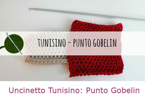 uncinetto tunisino come fare punto gobelin tutorial