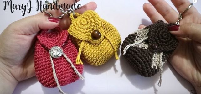 Portamonete a uncinetto mini zainetto – Tutorial