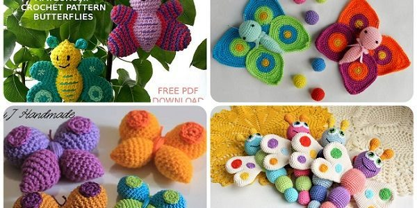 Farfalla amigurumi: schemi e video tutorial