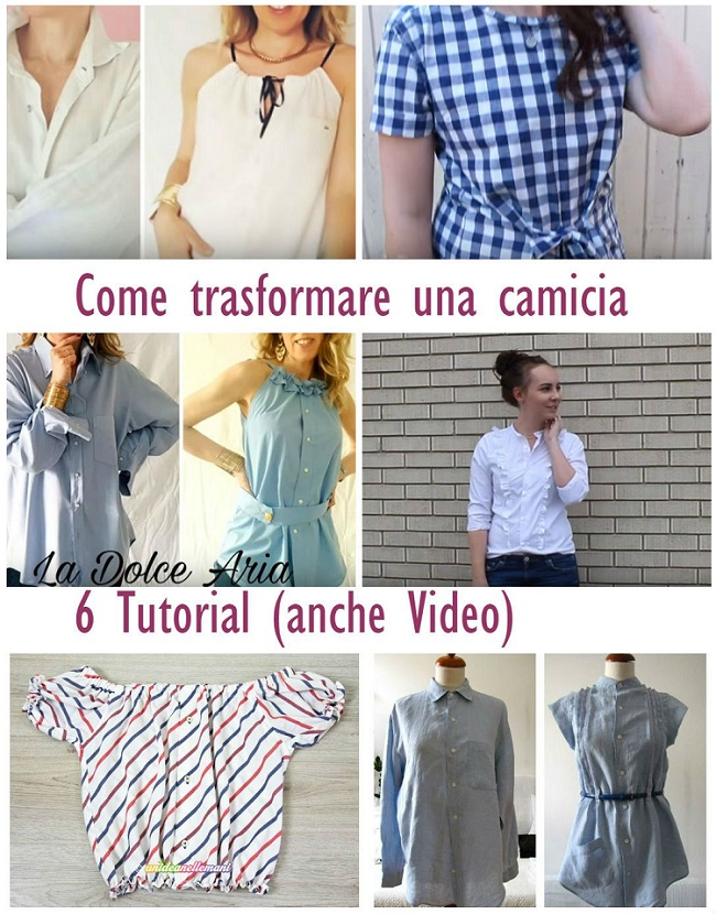come modificare una camicia raccolta tutorial