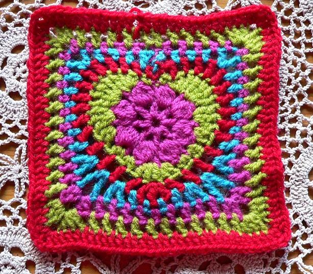 Schema mattonella a uncinetto con cuore di joke lindevrouw - Piastrelle di lana all uncinetto ...