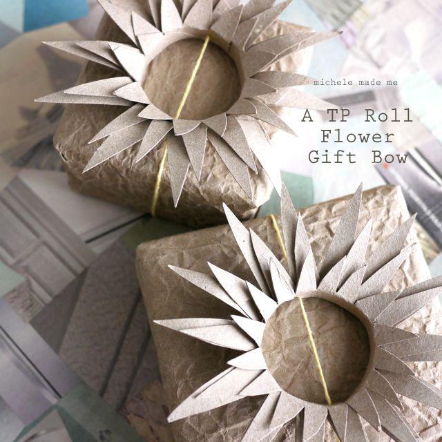 riciclo interno rotoli di carta come fare fiori