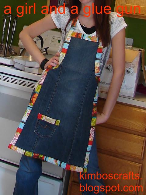 Riciclo creativo come fare grembiule da un paio di vecchi jeans tutorial - Grembiuli da cucina fai da te ...